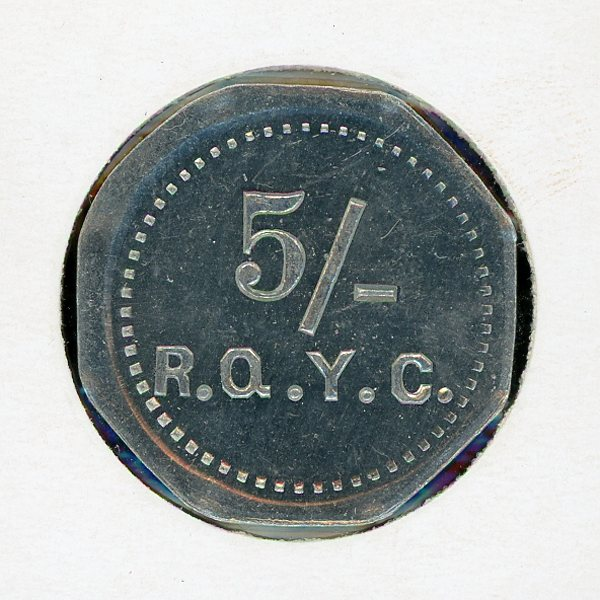 Thumbnail for Royal Queensland Yacht Club 5 Shilling Token (A)