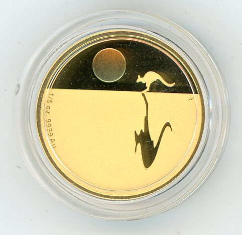 Thumbnail for 2008 One Fifth oz Kangaroo at Sunset Proof coin in Capsule