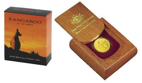 Thumbnail for 2009 Kangaroo at Sunset $25.0 Gold Proof Coin