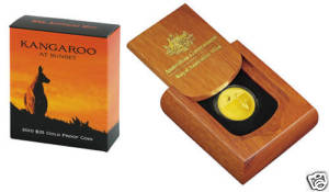 Thumbnail for 2010 Kangaroo at Sunset $25.00 Gold Proof Coin