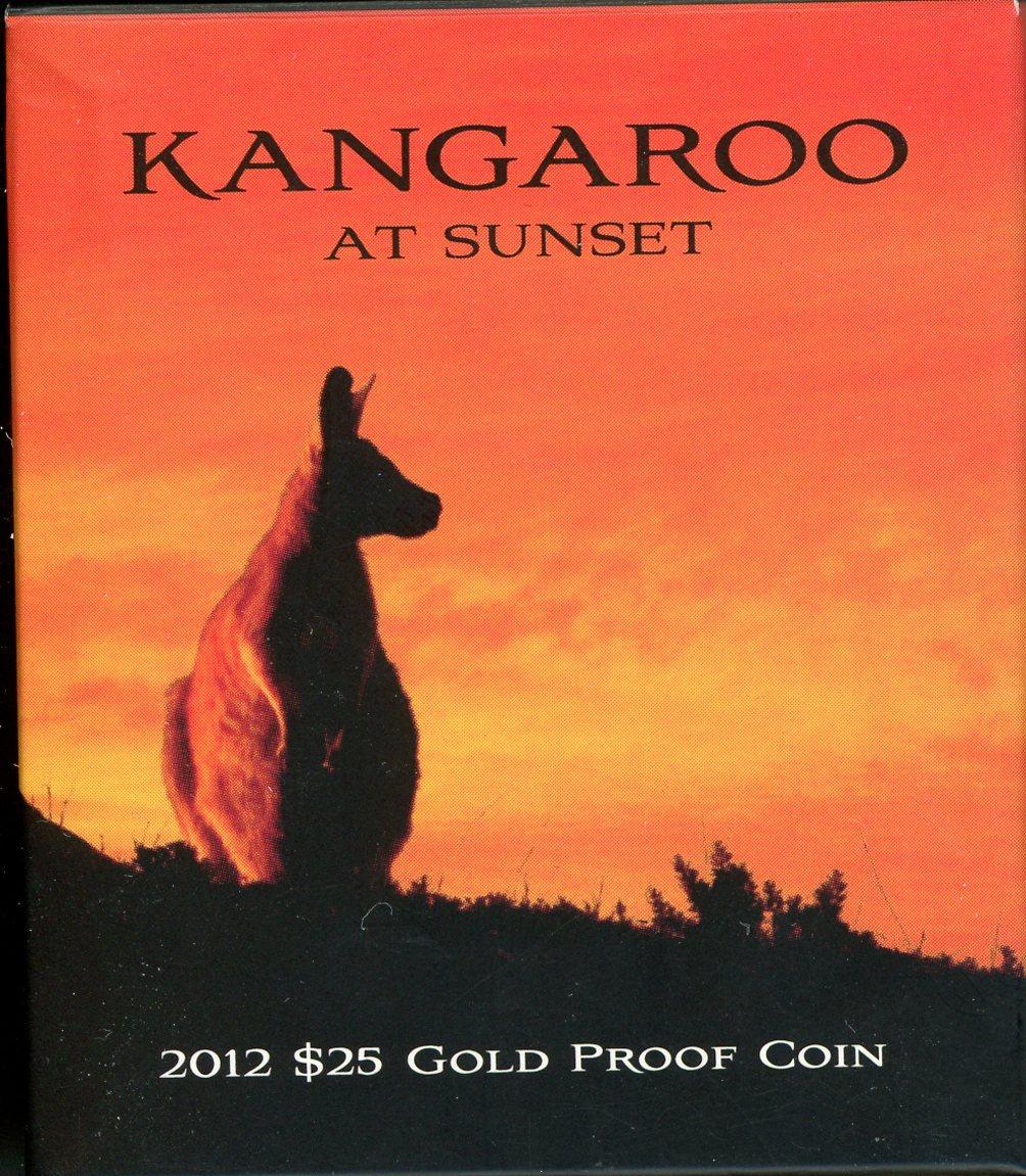Thumbnail for 2012 Kangaroo at Sunset $25 Gold Proof Coin