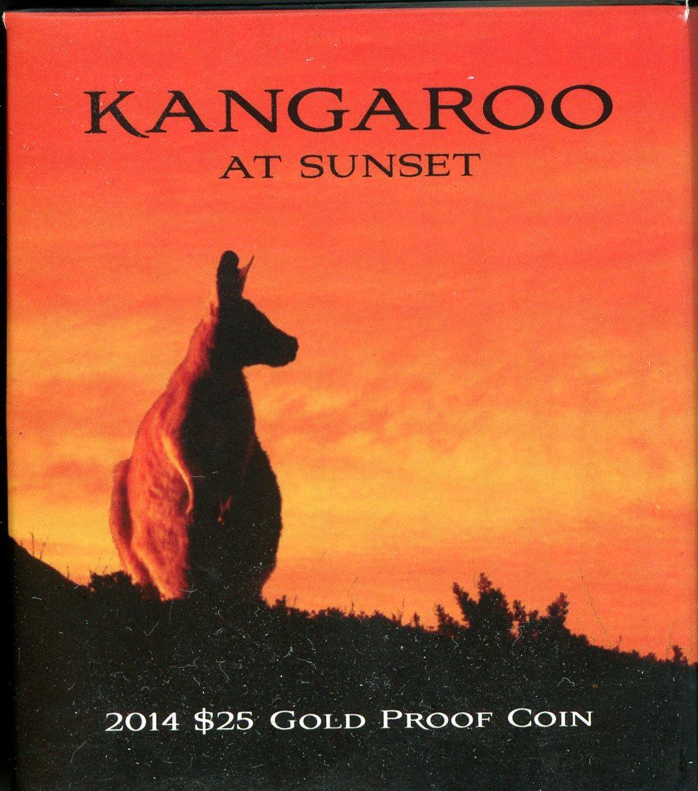 Thumbnail for 2014 Kangaroo at Sunset $25 Gold Proof Coin