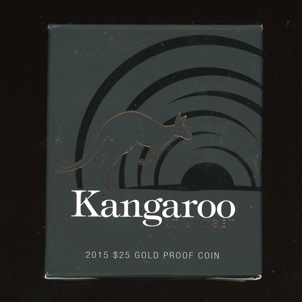 Thumbnail for 2015 Kangaroo at Sunset $25 Gold Proof