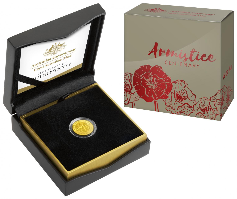 Thumbnail for 2018 Armistice Centenary Quarter oz $25.00 Gold Proof Coin