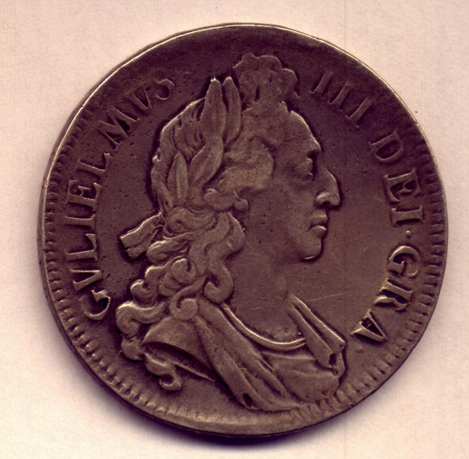 Thumbnail for 1696 British William III Silver Crown