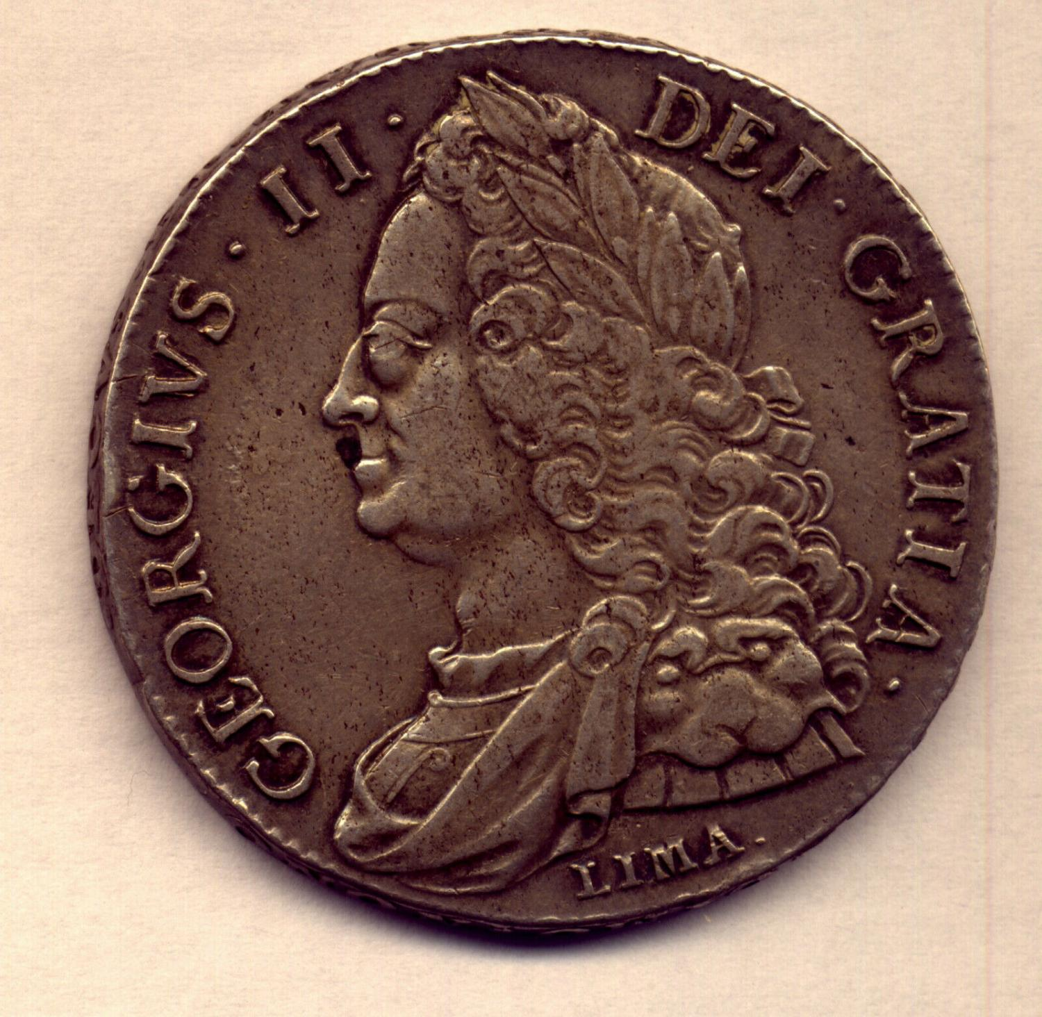Thumbnail for 1746 British George II Silver Crown