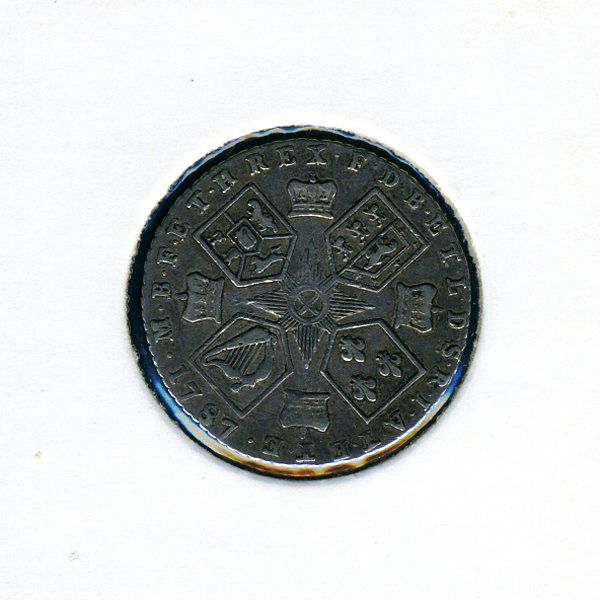 Thumbnail for 1787 George III Sixpence - No Hearts