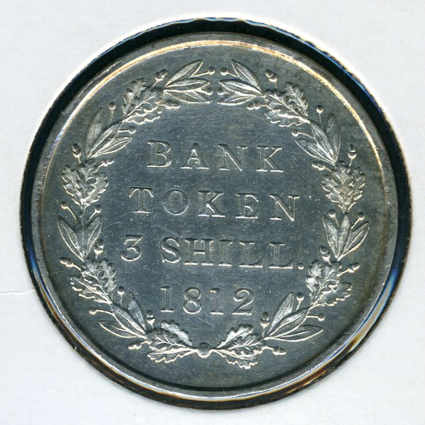 Thumbnail for 1812 George III 1.s 6.d Bank Token - good EF