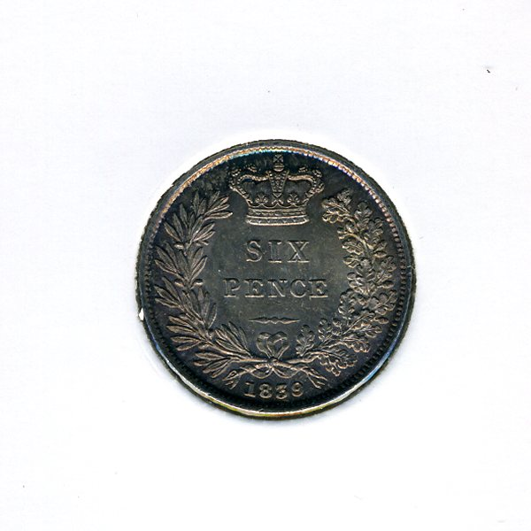 Thumbnail for 1839 Sixpence - Uncirculated