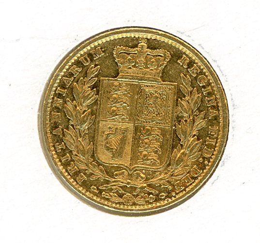 Thumbnail for 1853 Gold Shield Sovereign