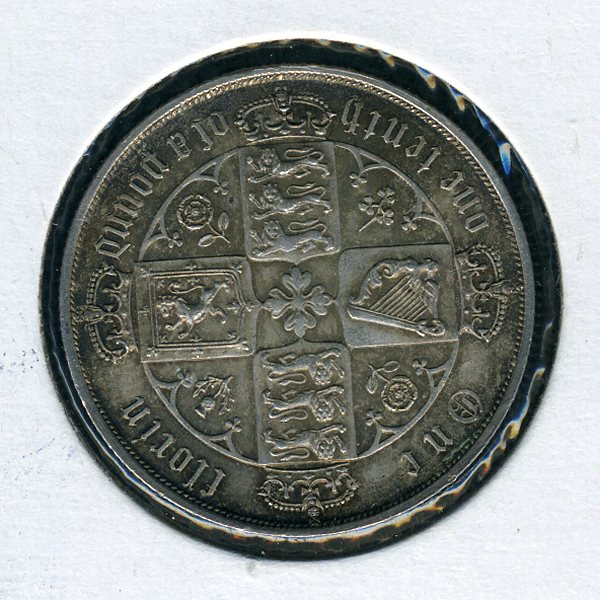 Thumbnail for 1873 British Gothic Florin - EF
