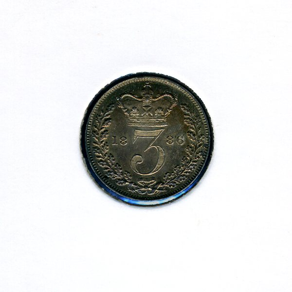 Thumbnail for 1886 Three Pence - Uncirculated