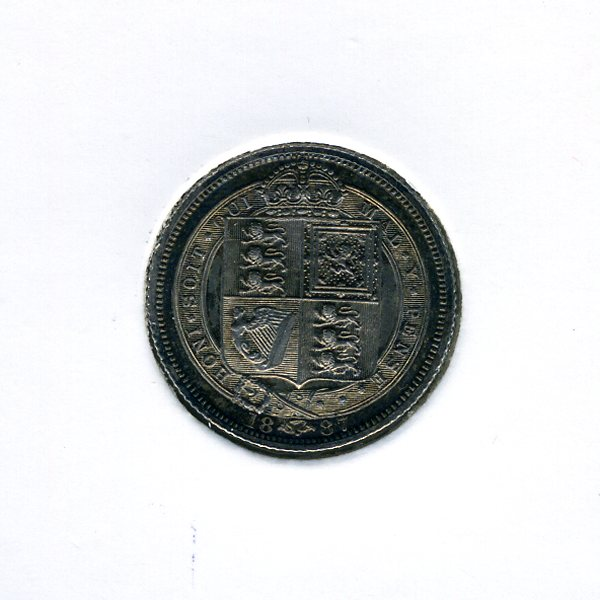 Thumbnail for 1887 Sixpence - Uncirculated
