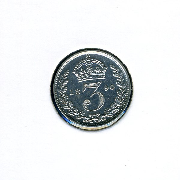 Thumbnail for 1890 Three Pence - almost Uncirculated