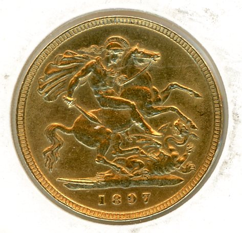 Thumbnail for 1897 Gold Half Sovereign