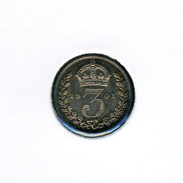 Thumbnail for 1901 Three Pence - Uncirculated