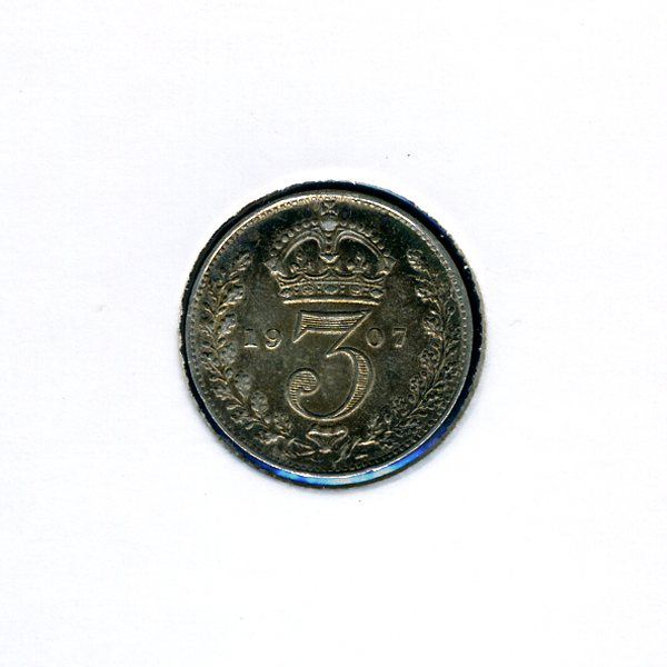 Thumbnail for 1907 Three Pence - almost Uncirculated