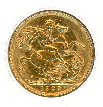 Thumbnail for 1909 Gold Sovereign