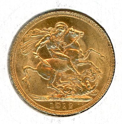 Thumbnail for 1912 UK Gold Sovereign