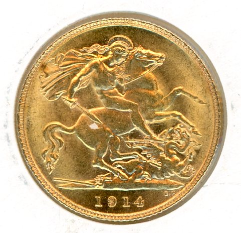 Thumbnail for 1914 Gold Half Sovereign