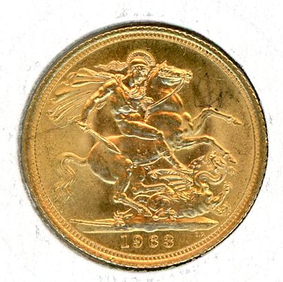 Thumbnail for 1963 UK Gold Sovereign