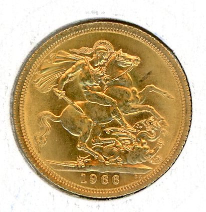 Thumbnail for 1966 UK Gold Sovereign