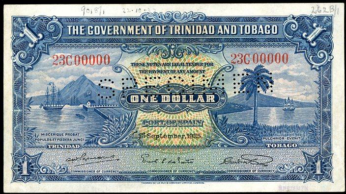 Thumbnail for 1935 Trinidad & Tobago Specimen One Dollar 23 C00000 VF