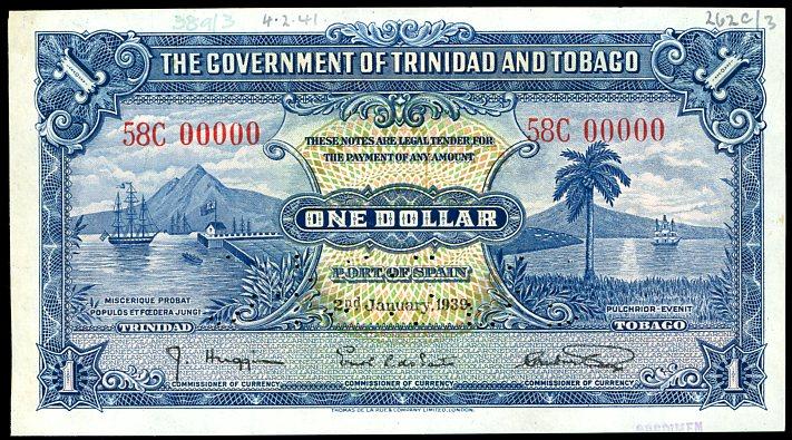 Thumbnail for 1939 Trindad & Tobago Specimen One Dollar 58 C00000 aUNC