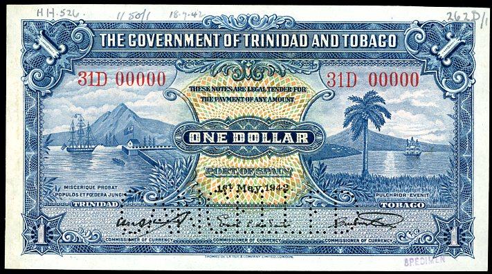 Thumbnail for 1942 Trindad & Tobago Specimen One Dollar 31 D00000 EF