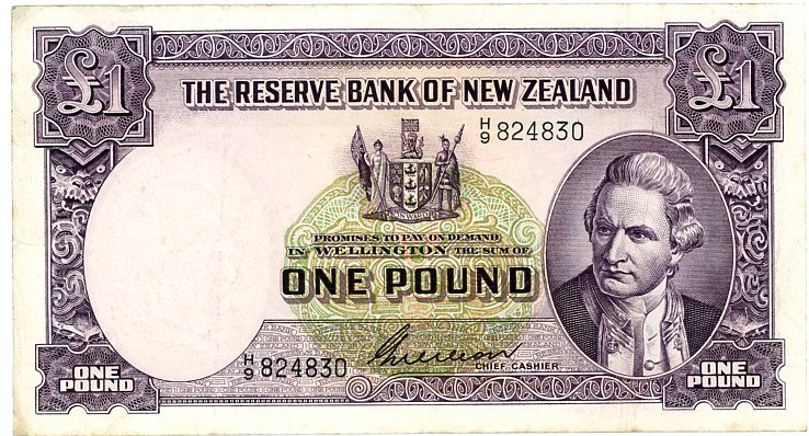 Thumbnail for 1950's New Zealand One Pound Wilson VF - H9 824830