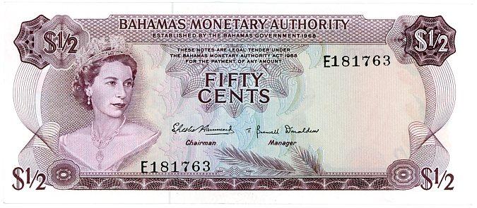 Thumbnail for 1965 Bahamas Fifty Cents gEF E181763