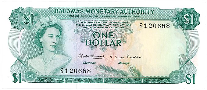 Thumbnail for 1965 Bahamas One Dollar aUNC S120688