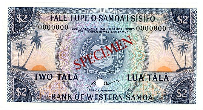 Thumbnail for 1967 Western Samoa $2 Specimen UNC - 0000000