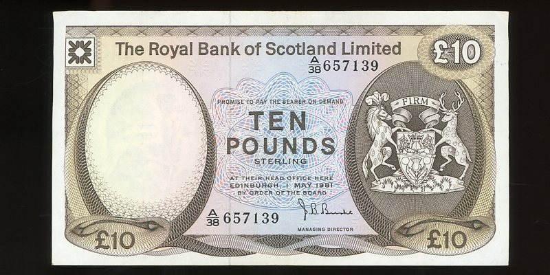 Thumbnail for 1972 Scotland 10 Pounds A38 657139 gVF