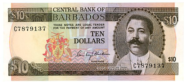 Thumbnail for 1973 Barbados $10 C7879137 UNC