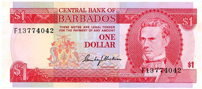 Thumbnail for 1973 Barbados $1 FI 3774042 UNC