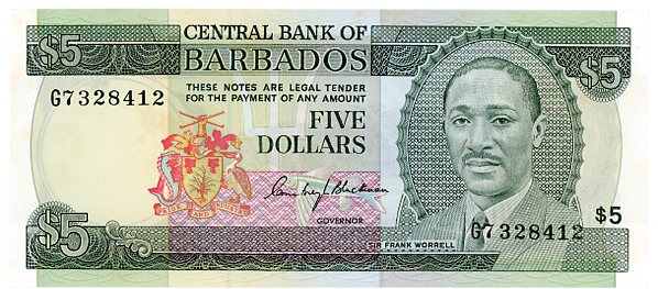 Thumbnail for 1973  Barbados $5 G7328412 UNC