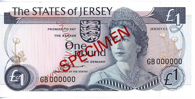 Thumbnail for 1976 Jersey One Pound Specimen UNC