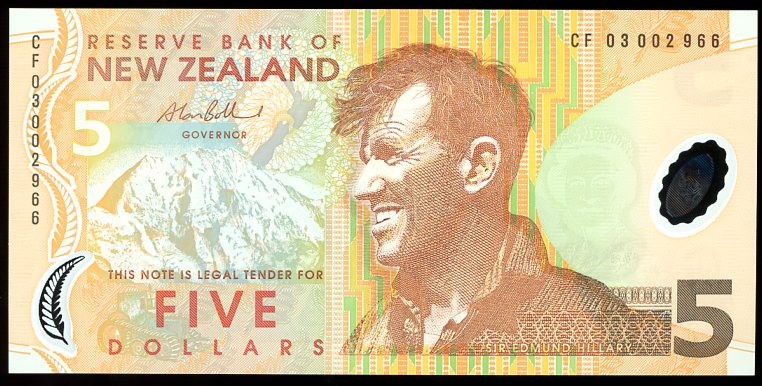 Thumbnail for 2003 New Zealand $5 Banknote CF03 002966 UNC