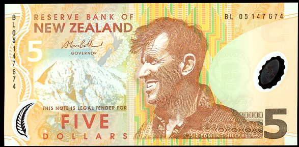 Thumbnail for 2005 New Zealand $5 Banknote BL05 147674 UNC