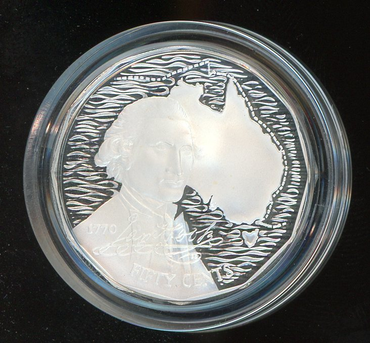 Thumbnail for 1989 Silver Proof Fifty Cents In Capsule - Captain Cook Design