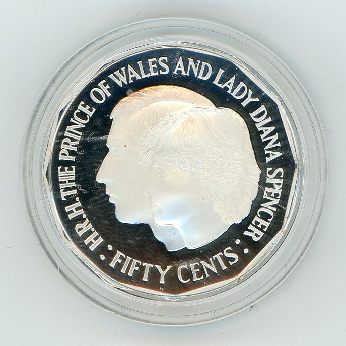 Thumbnail for 1989 Silver Proof Fifty Cents In Capsule - 1981 Charles & Di Design