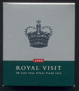 Thumbnail for 2000 Australian Royal Visit Fifty Cent Proof Coin