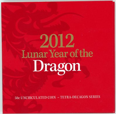 Thumbnail for 2012 Lunar Series - Year of the Dragon 50c