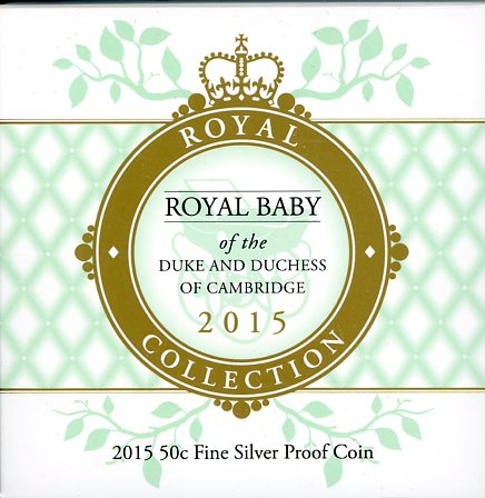 Thumbnail for 2015 50c Fine Silver Proof Coin - Royal Baby of Duke and Duchess of Cambridge