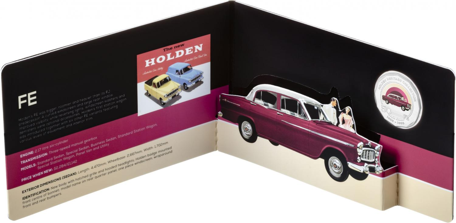 Thumbnail for 2016 Holden Heritage Coloured Fifty Cent - FE Holden