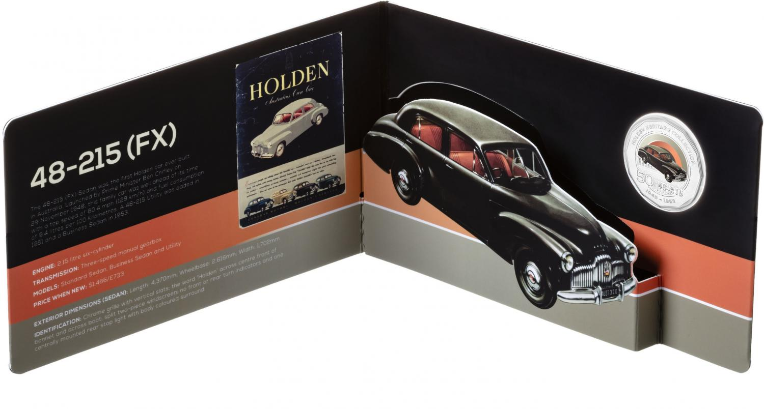 Thumbnail for 2016 Holden Heritage Coloured Fifty Cent - FX Holden