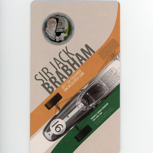 Thumbnail for 2017 Sir Jack Brabham Coloured UNC Coin