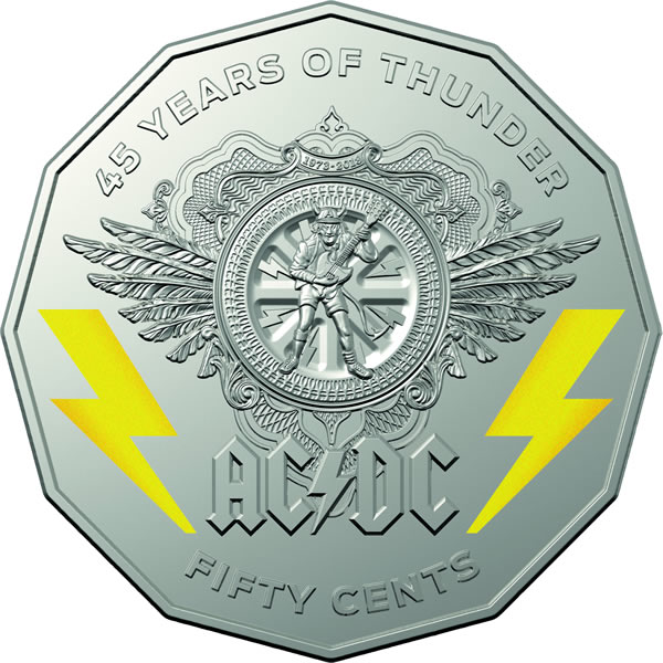 Thumbnail for 2018 ACDC 50c Coloured Uncirculated Coin