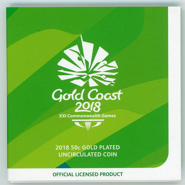 Thumbnail for 2018 Australian Commonwealth Games Gold Plated Fifty Cent